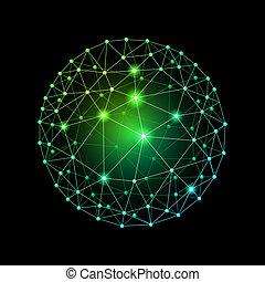 sphère, connecté