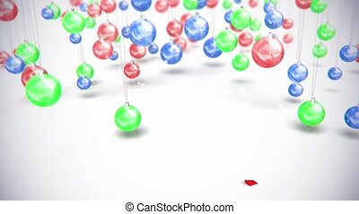 sphère, flèche, jouets, fond