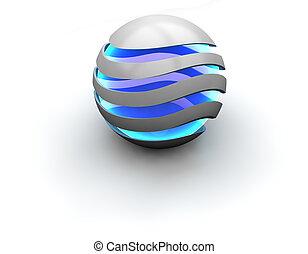 sphère, incandescent