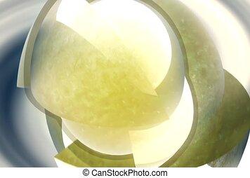 sphère, jaune, lumière