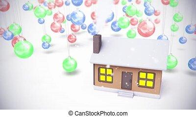 sphère, jouets, baclground, bâtiment