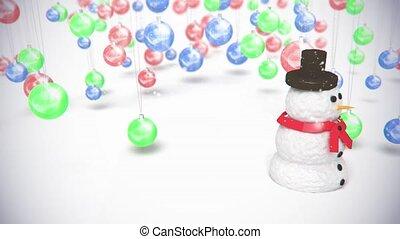 sphère, jouets, bonhomme de neige, baclground