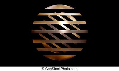 sphère, lignes