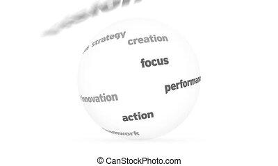sphère, motivation, mot