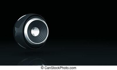 sphère, orateur, 3d
