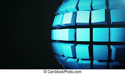 sphère, résumé, technologie, fond