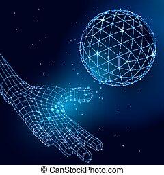 sphère, résumé, vecteur