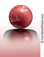 sphère, rouges