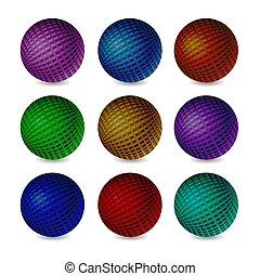 sphère, soulagement, 3d
