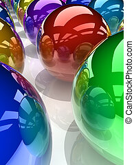 sphères, coloré