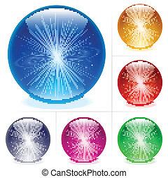 sphères, lustré