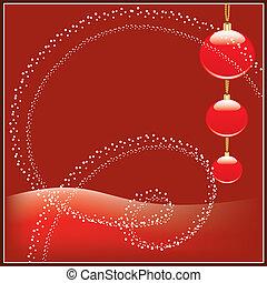 sphères, noël, rouges