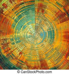 sphérique, couleur, jaune, patterns:, vieilli, texture., ...