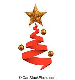 sph, baum, bänder, weihnachten