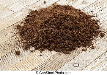 sphagnum, turba, musgo, canadiense