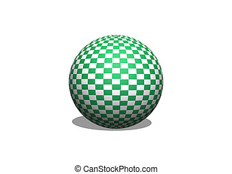 Sphere 3d Checkered Flag Racing Ball