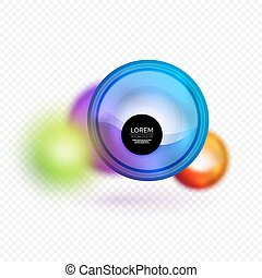 Sphere 3d vector banner