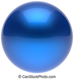 Sphere ball button circle round basic solid bubble figure blue