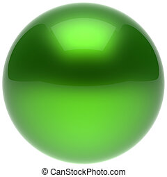 Sphere ball green push button circle round basic solid bubble