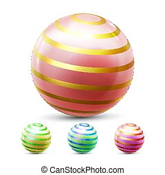 Sphere Ball Vector. Orb Shining. Round Button. Glossy Element. Cirlce Object. Magic Globe. Fluid Element. Jeweler Perl. Glow Crystal. Smooth Blank. Web Icon 3D Realistic Illustration