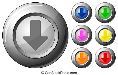 Sphere button arrow down