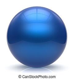 Sphere button ball blue round basic circle geometric shape