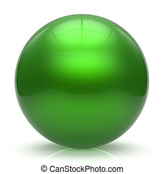 Sphere button ball green round basic circle geometric shape