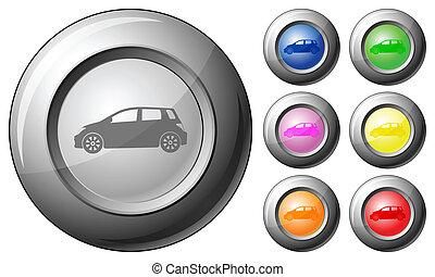 Sphere button car
