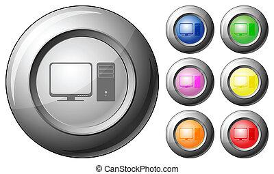 Sphere button computer