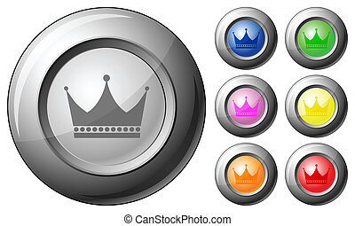 Sphere button crown