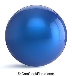 Sphere button round blue ball geometric shape basic circle