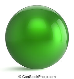 Sphere button round green ball geometric shape basic circle