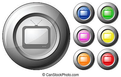 Sphere button TV