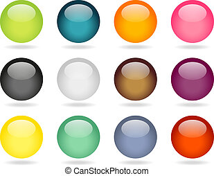 Sphere buttons set