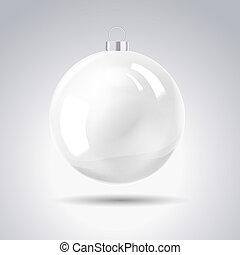 Sphere christmas ball. Vector illustration.