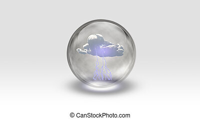 Sphere contains storm cloud