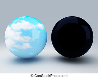 sphere day and night