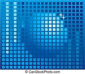 Sphere digital background, disco ball, nightclub