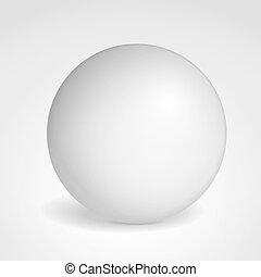 Sphere - Matted gray sphere, vector eps10 illustration