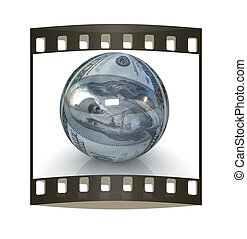 Sphere from dollar. The film strip