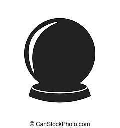sphere future magic mistery icon. Vector graphic