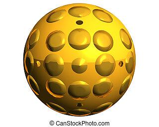 Sphere - golden sphere