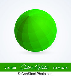 Sphere green ball. Vector illustration.