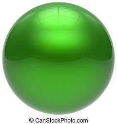 Sphere green round ball geometric shape basic circle solid
