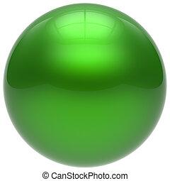 Sphere green round ball geometric shape basic circle solid