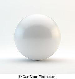 sphere., illustration., vektor, 3
