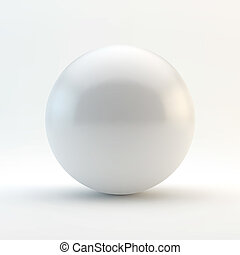 sphere., illustration., vettore, 3d