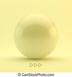 sphere., illustration., wektor, 3d