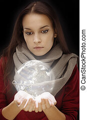 Sphere in hands