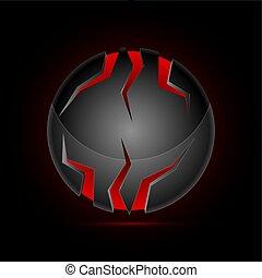 sphere in high-tech style - Sphere in high-tech style,...